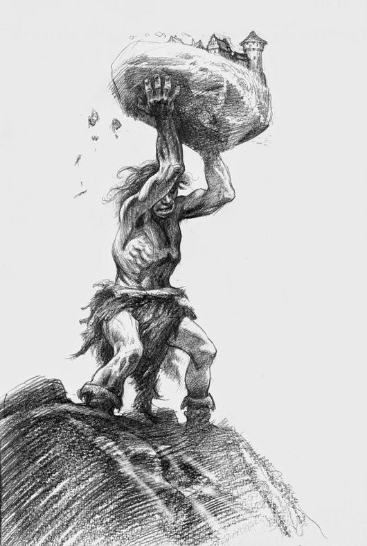 uit Book of giants van Petar Meseldzjija Art http://www.petarmeseldzijaart.com/ https://www.facebook.com/pages/The-art-of-Petar-Meseld%C5%BEija/383454718432091